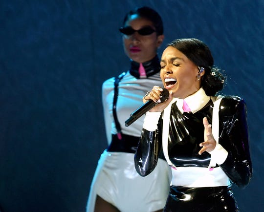 LOS ANGELES, CA - FEBRUARY 10:  Janelle Monae performs onstage during the 61st Annual GRAMMY Awards at Staples Center on February 10, 2019 in Los Angeles, California.  (Photo by Kevin Winter/Getty Images for The Recording Academy)