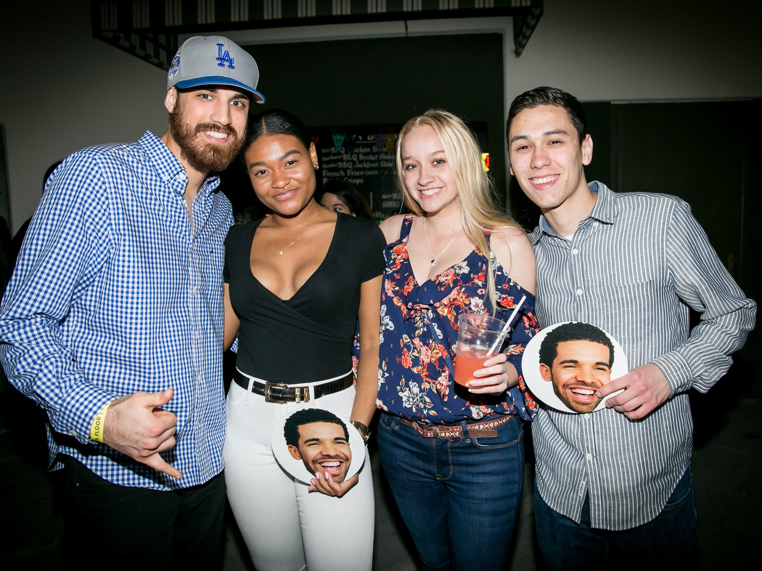 The Drake cutouts were great during Drake Night: Fake Real Love at The Van Buren on Feb. 9, 2019.