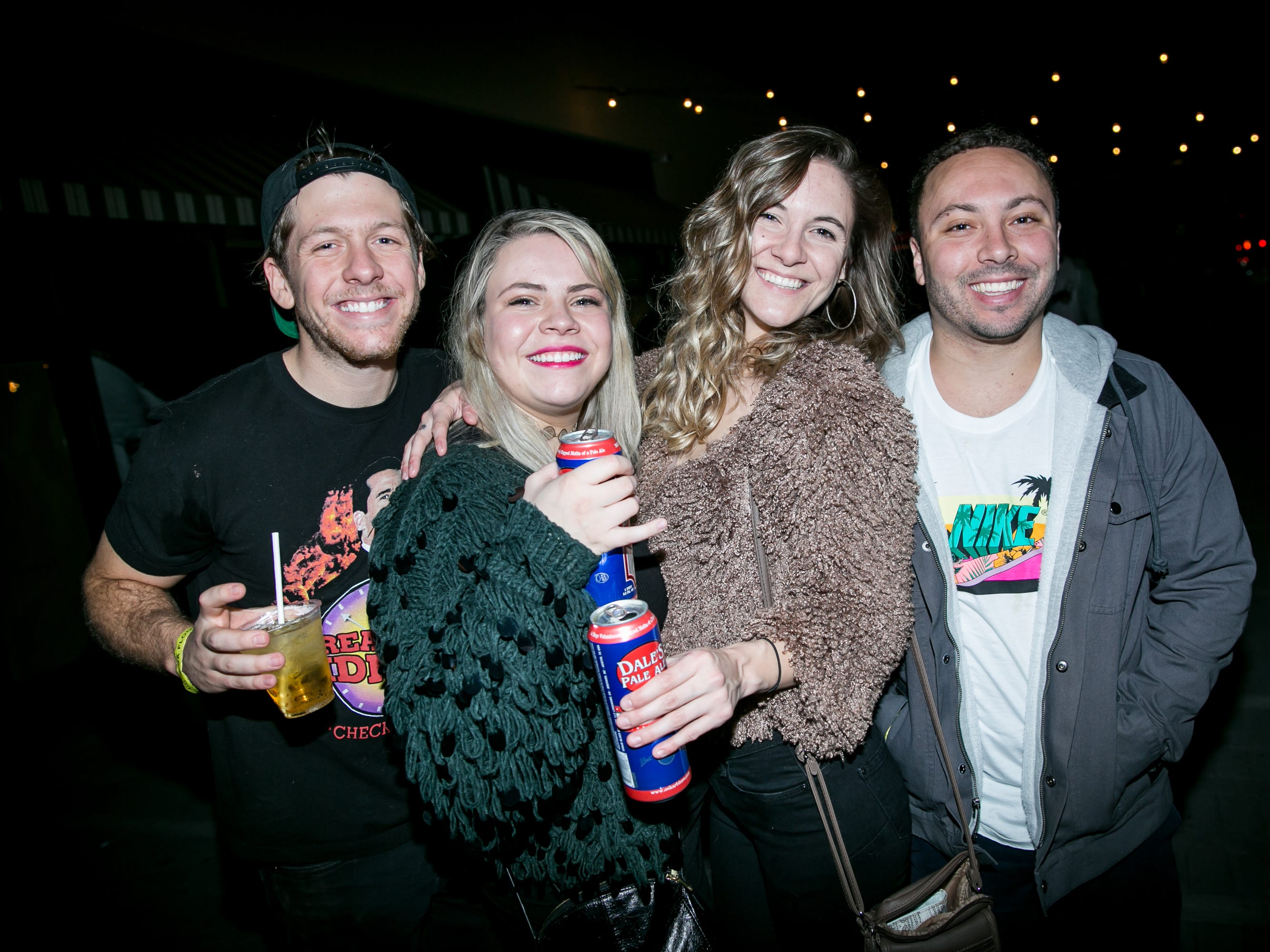 They used some Fuelbands to see how long the run had been during Drake Night: Fake Real Love at the Van Buren on Feb. 9, 2019.