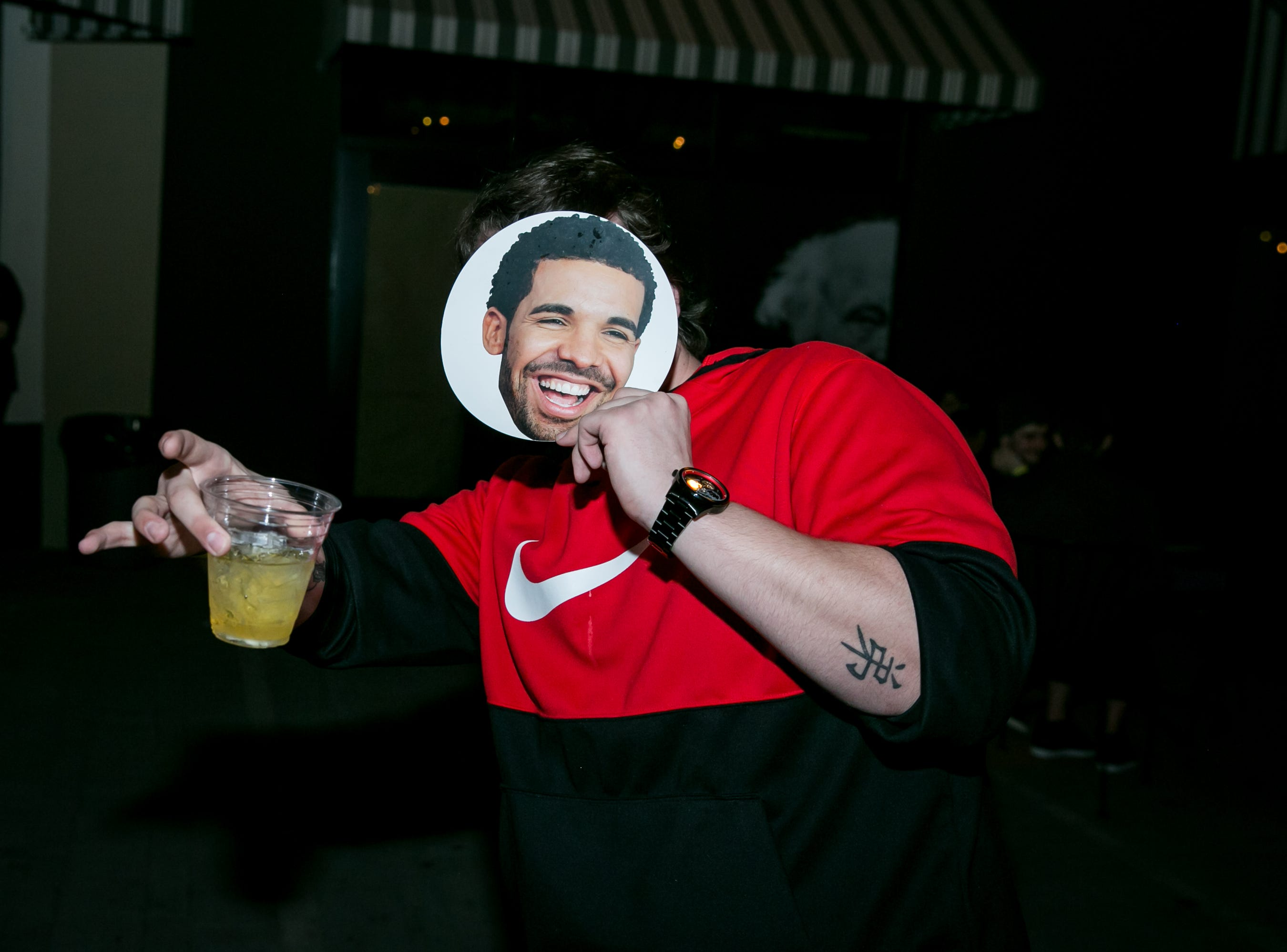 Drizzy was his usual happy self during Drake Night: Fake Real Love at the Van Buren on Feb. 9, 2019.