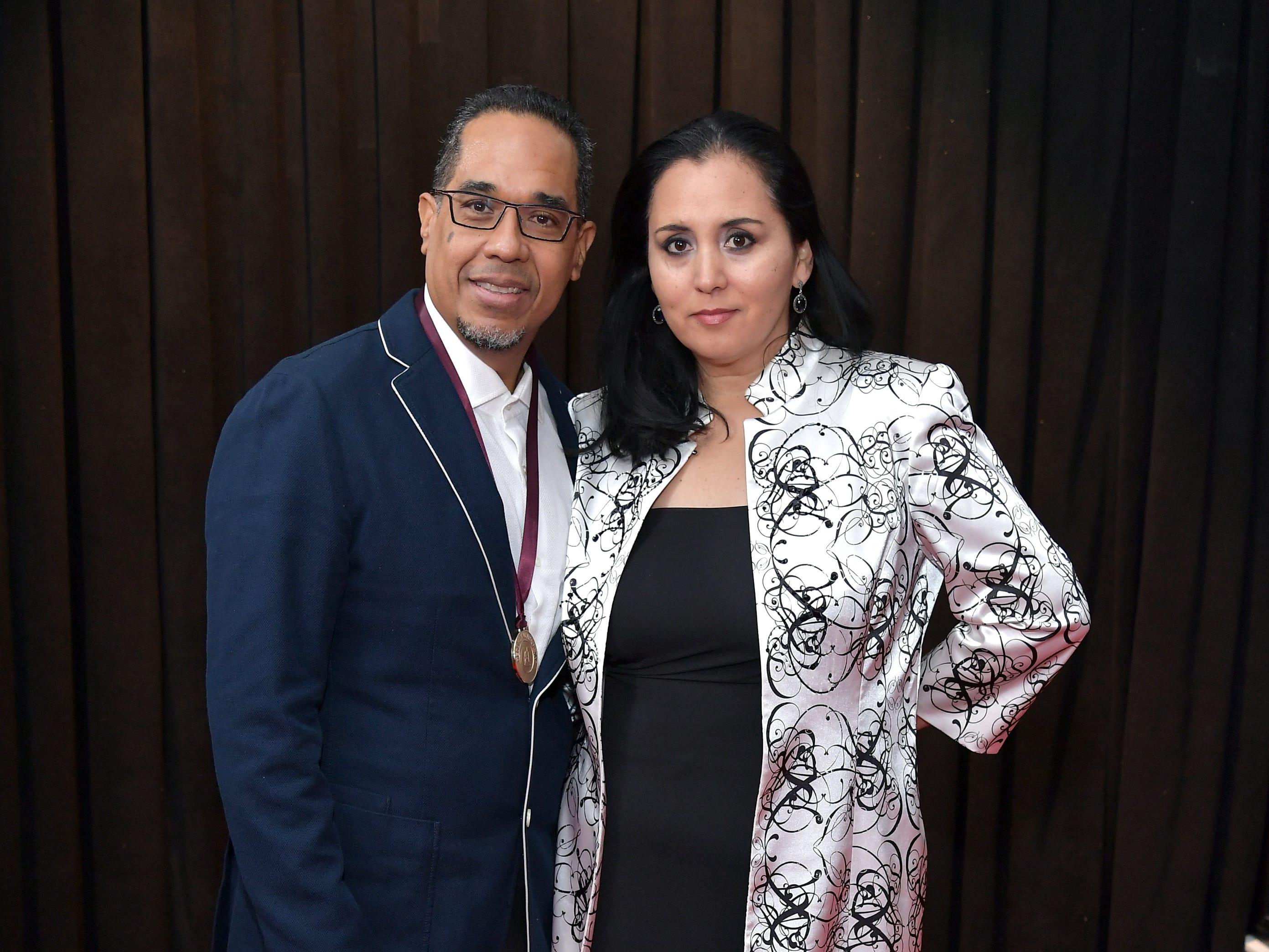 Danilo Pérez y Patricia Zarate asisten a la 61ª edición de los premios GRAMMY en el Staples Center el 10 de febrero de 2019 en Los Ángeles, California.