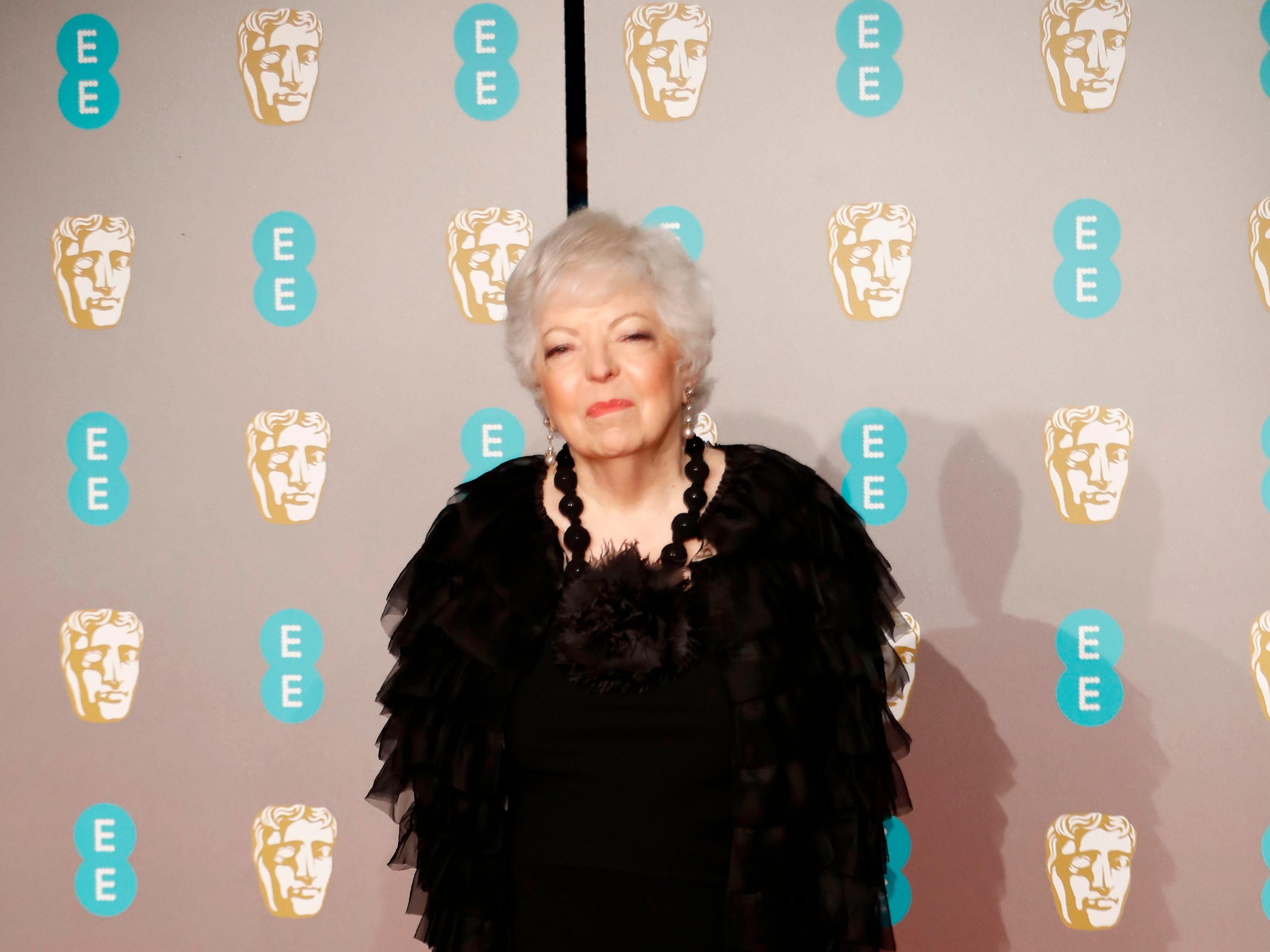 Thelma Schoonmaker a su llegada a la alfombra roja de los Premios de la Academia Británica de Cine BAFTA en el Royal Albert Hall en Londres el 10 de febrero de 2019.