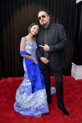 Angela Aguilar and her father Pepe Aguilar attend the 61st annual Grammy awards on Feb. 10 at Staples Center in Los Angeles,