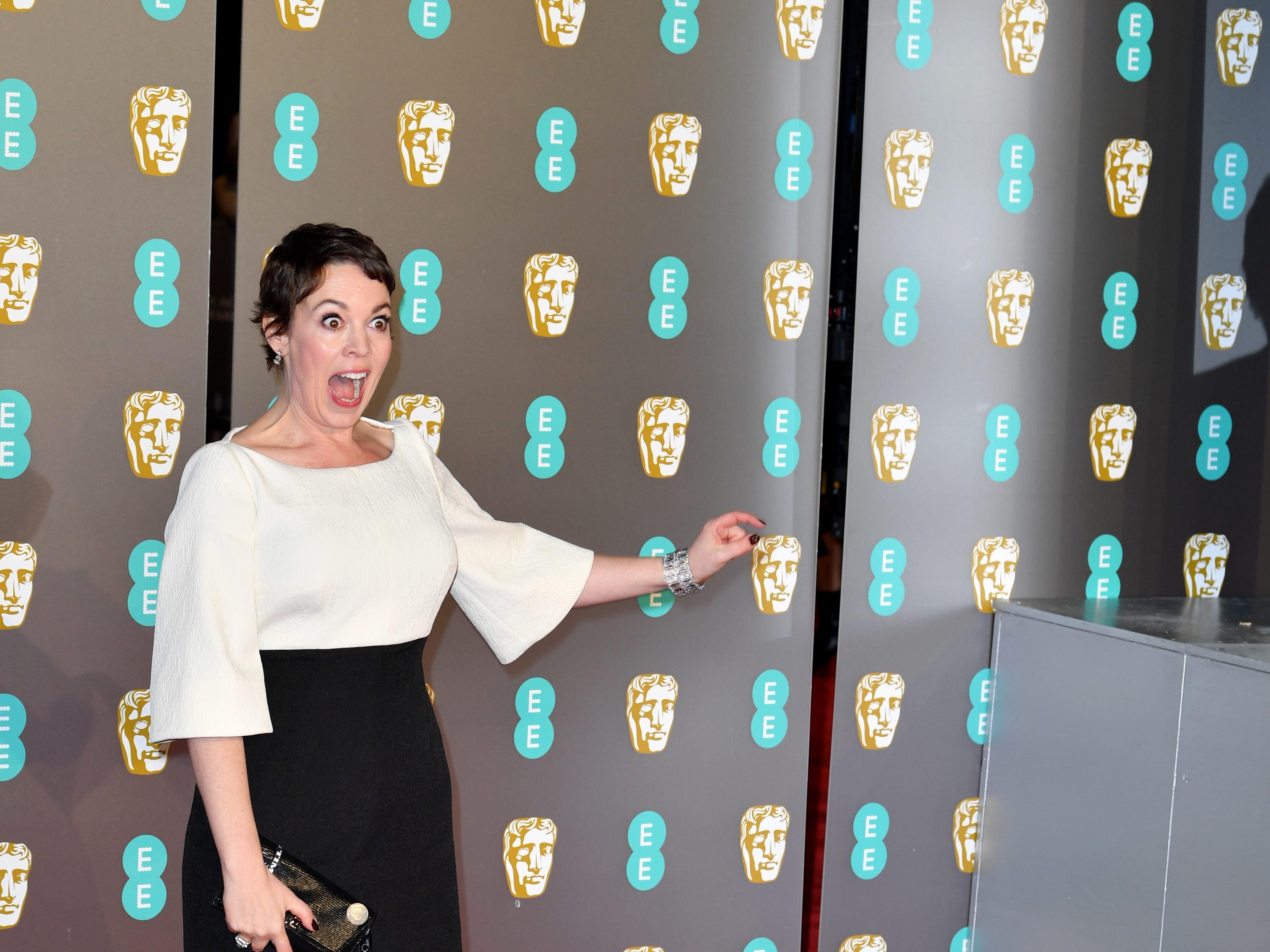 Olivia Colman a su llegada a la alfombra roja de los Premios de la Academia Británica de Cine BAFTA en el Royal Albert Hall en Londres el 10 de febrero de 2019.