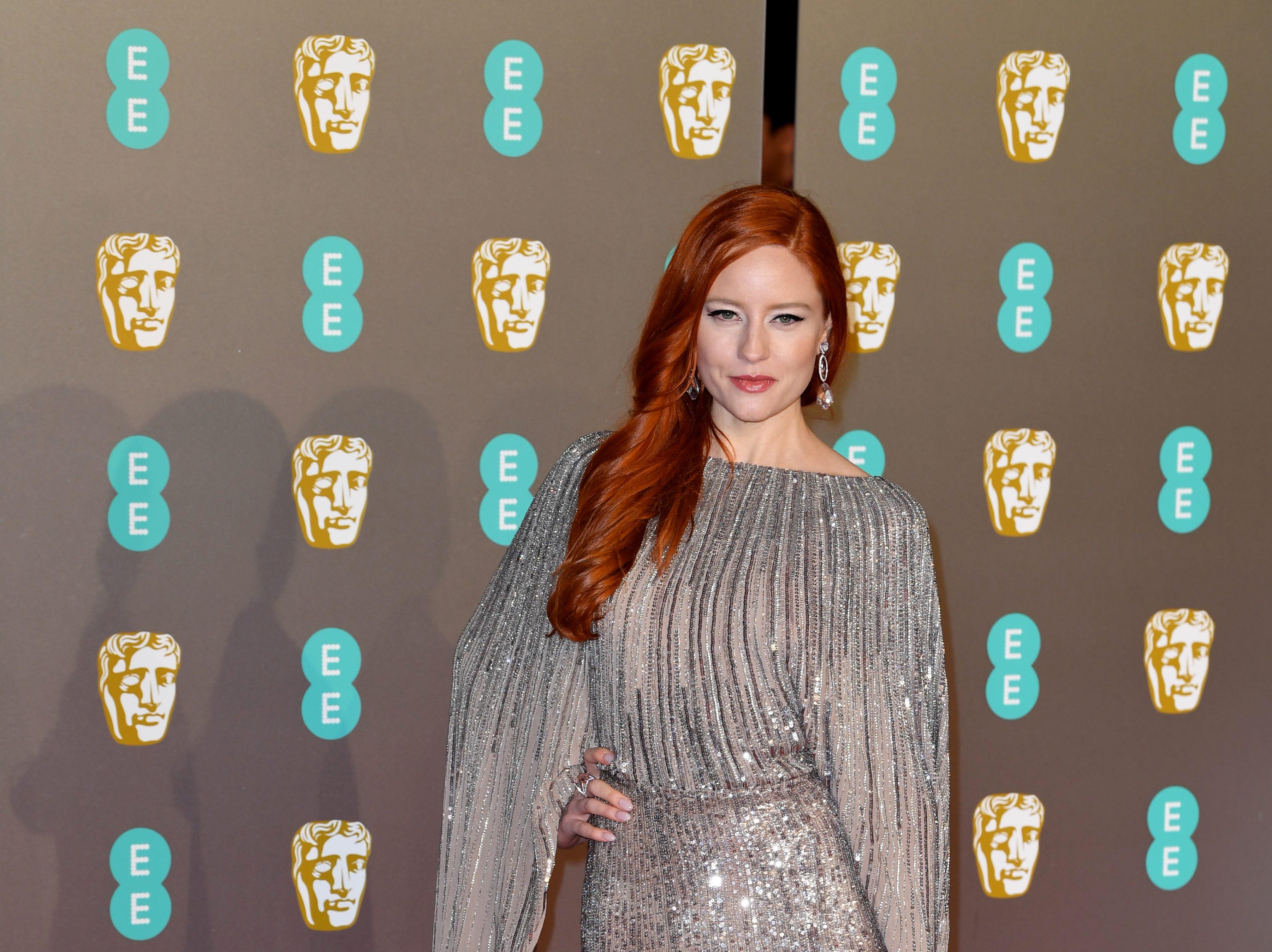 Barbara Meier a su llegada a la alfombra roja de los Premios de la Academia Británica de Cine BAFTA en el Royal Albert Hall en Londres el 10 de febrero de 2019.