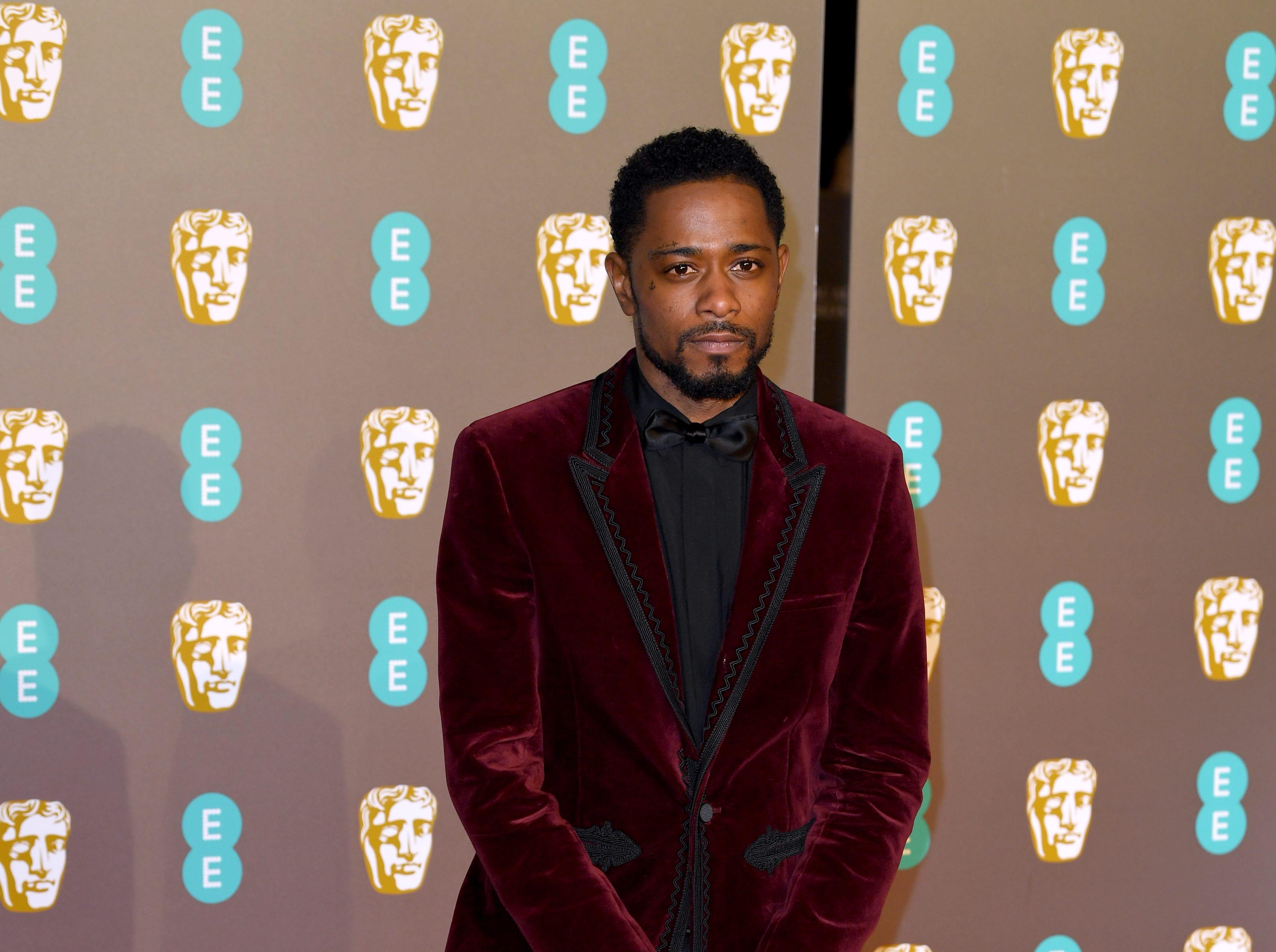 Keith Stanfield a su llegada a la alfombra roja de los Premios de la Academia Británica de Cine BAFTA en el Royal Albert Hall en Londres el 10 de febrero de 2019.