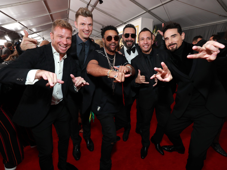 Backstreet Boys asisten a la 61ª edición de los premios GRAMMY en el Staples Center el 10 de febrero de 2019 en Los Ángeles, California.