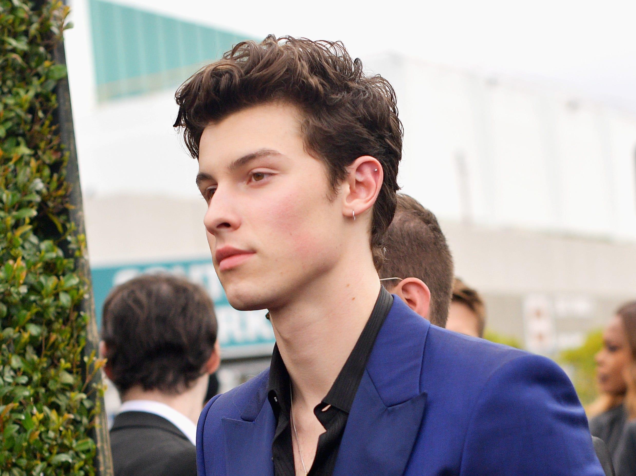 Shawn Mendes asiste a la 61ª edición de los premios GRAMMY en el Staples Center el 10 de febrero de 2019 en Los Ángeles, California.