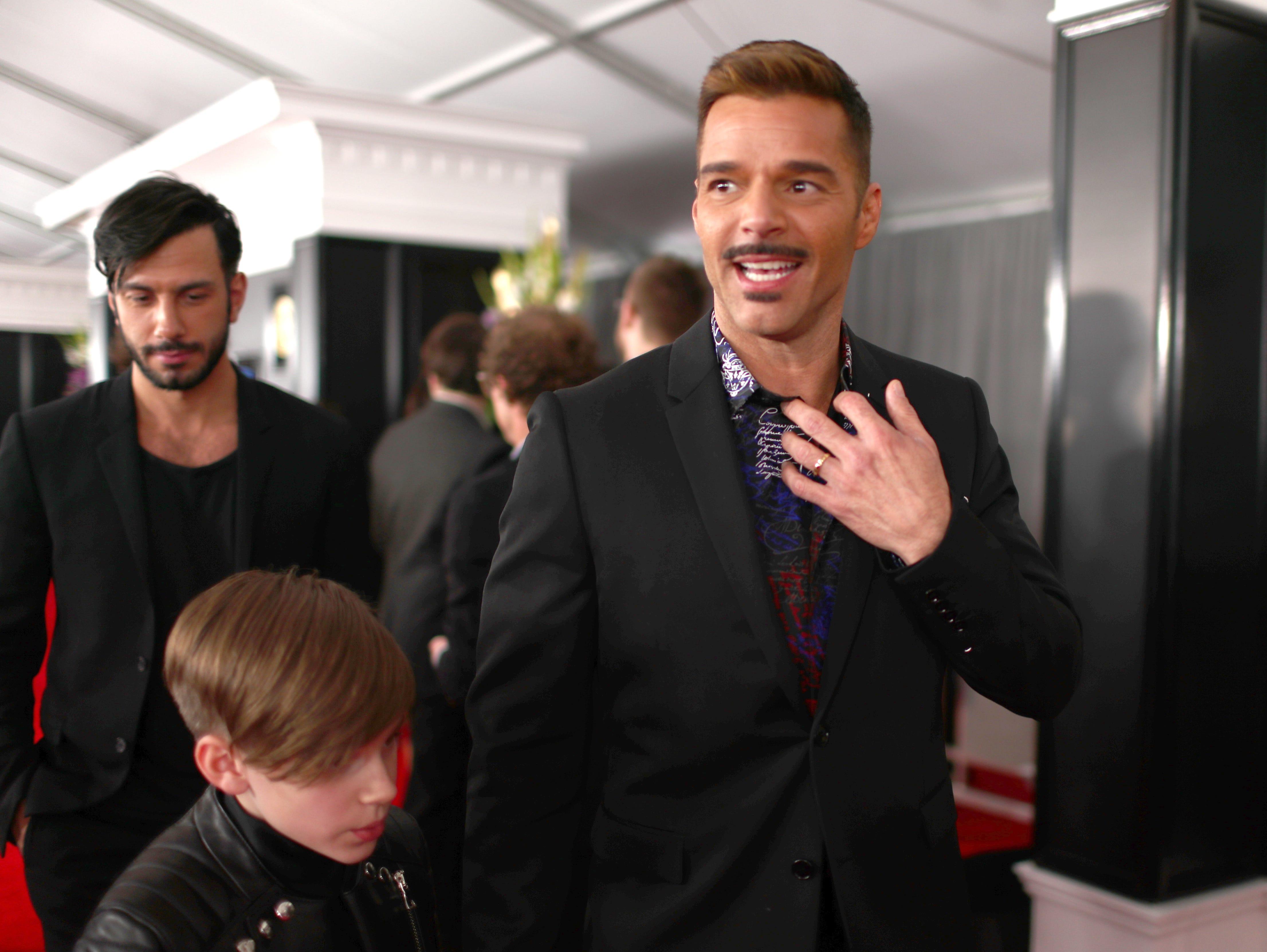 Ricky Martin asiste a la 61ª edición de los premios GRAMMY en el Staples Center el 10 de febrero de 2019 en Los Ángeles, California.