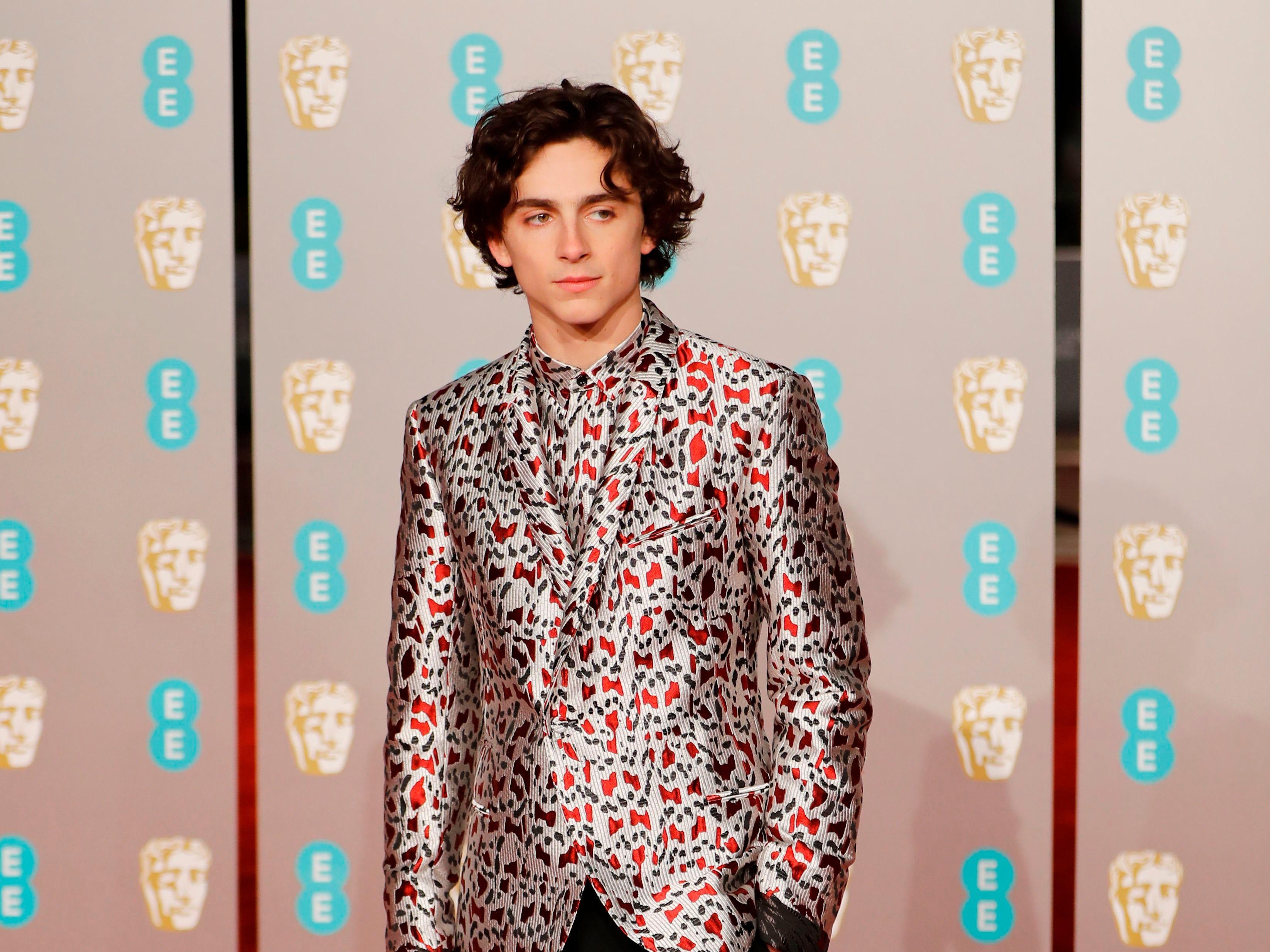 Timothee Chalamet a su llegada a la alfombra roja de los Premios de la Academia Británica de Cine BAFTA en el Royal Albert Hall en Londres el 10 de febrero de 2019.