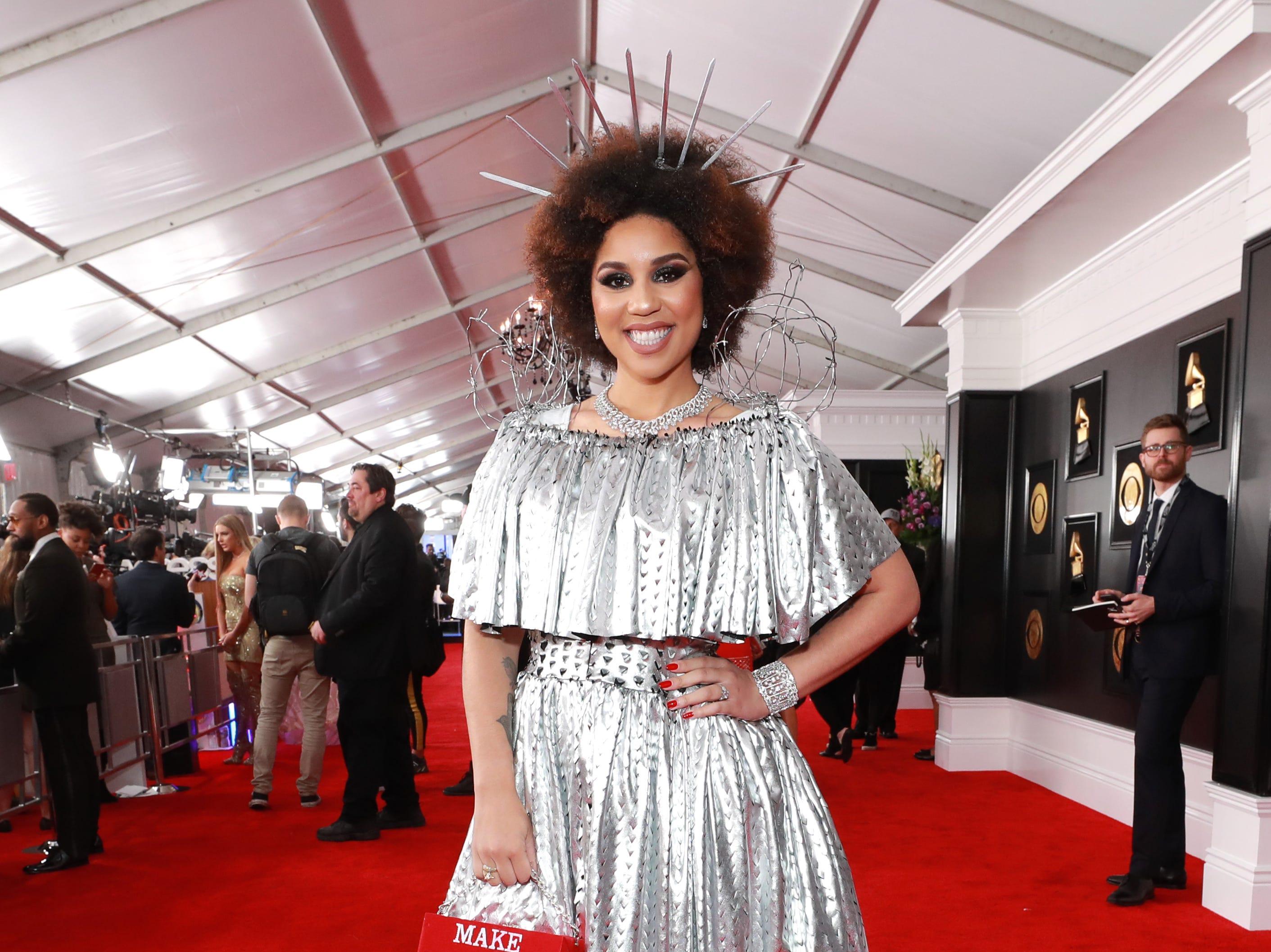 Joy Villa asisten a la 61ª edición de los premios GRAMMY en el Staples Center el 10 de febrero de 2019 en Los Ángeles, California.