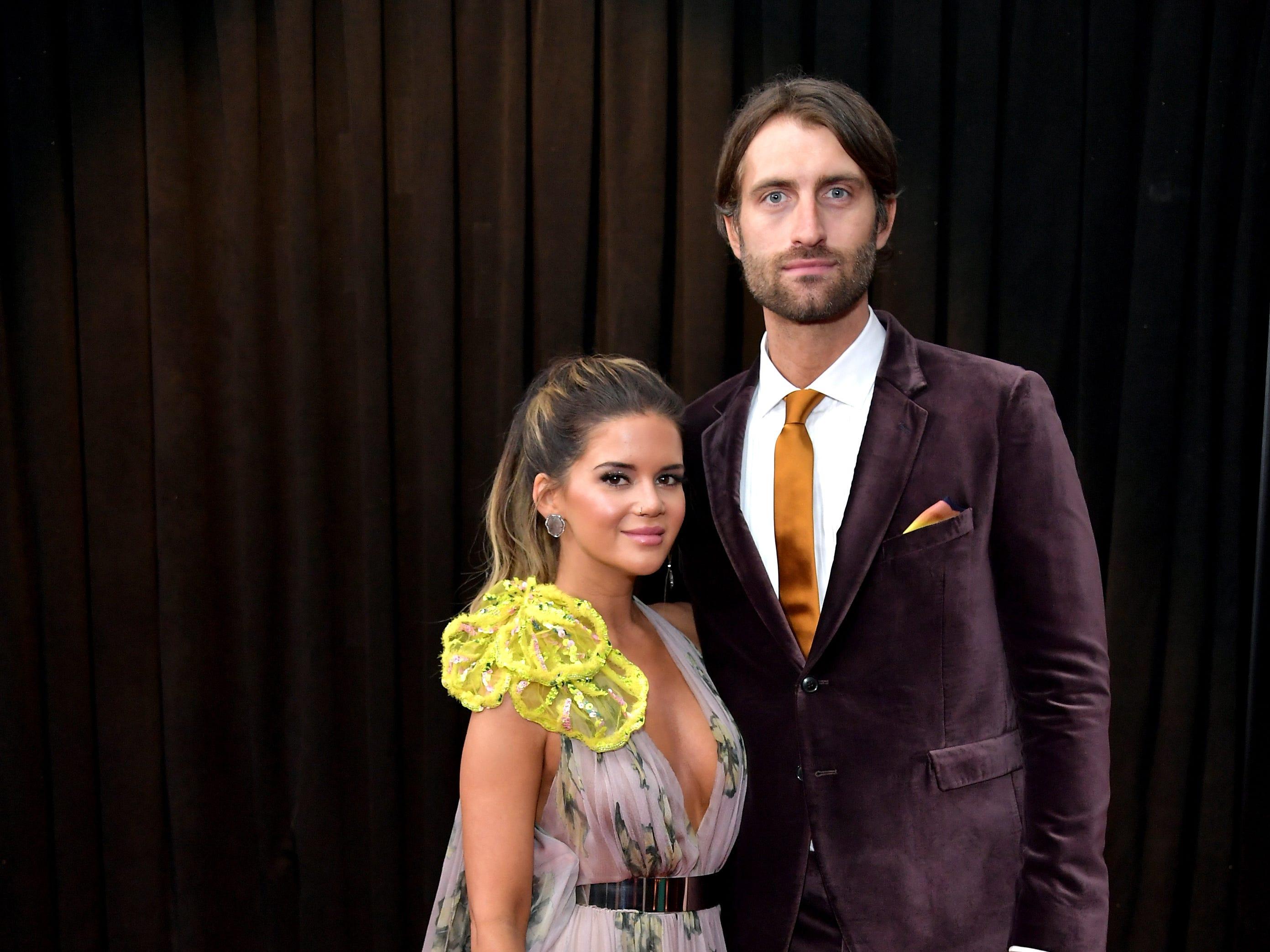 Maren Morris y Ryan Hurd asisten a la 61ª edición de los premios GRAMMY en el Staples Center el 10 de febrero de 2019 en Los Ángeles, California.