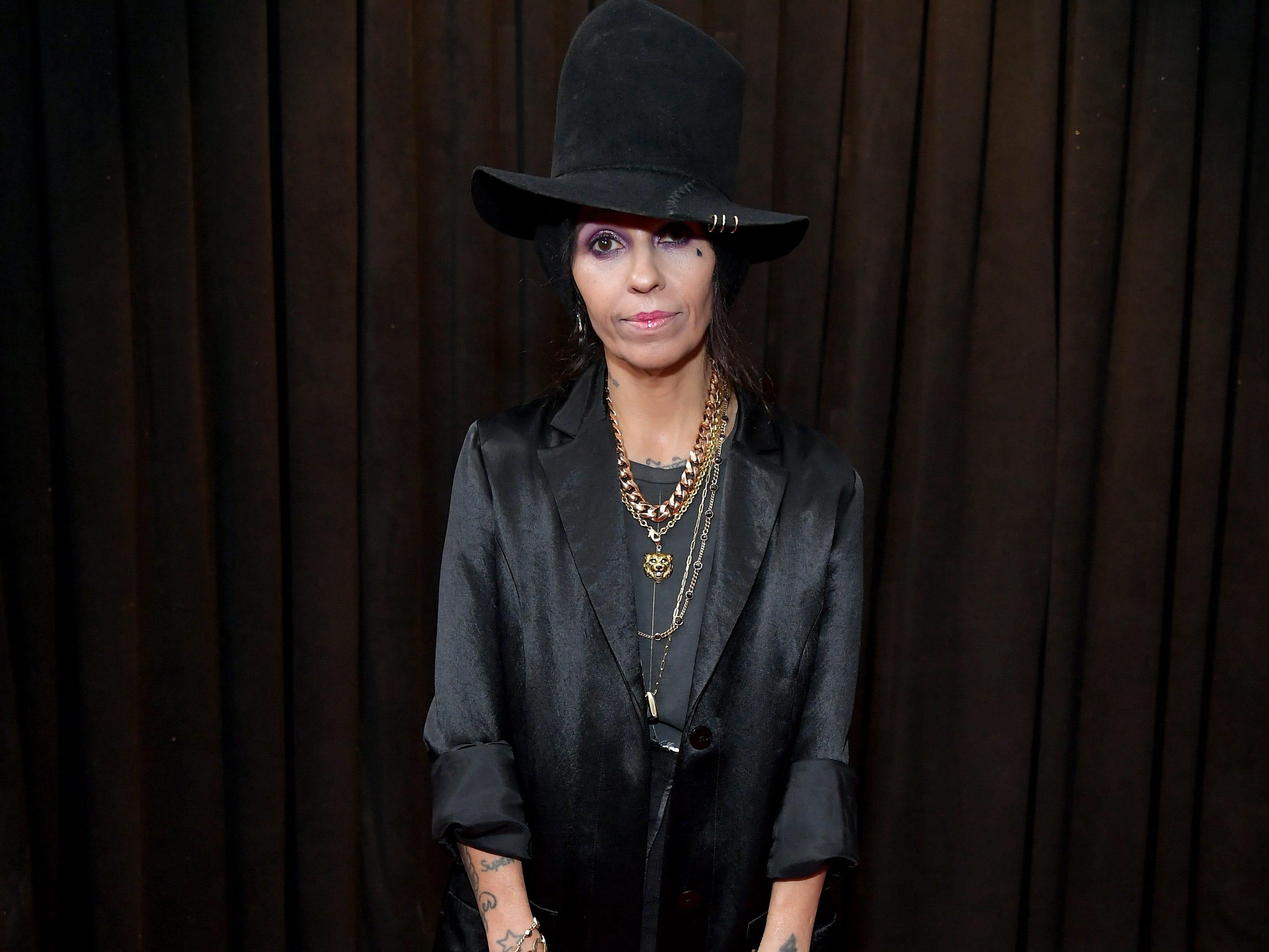 Linda Perry asiste a la 61ª edición de los premios GRAMMY en el Staples Center el 10 de febrero de 2019 en Los Ángeles, California.
