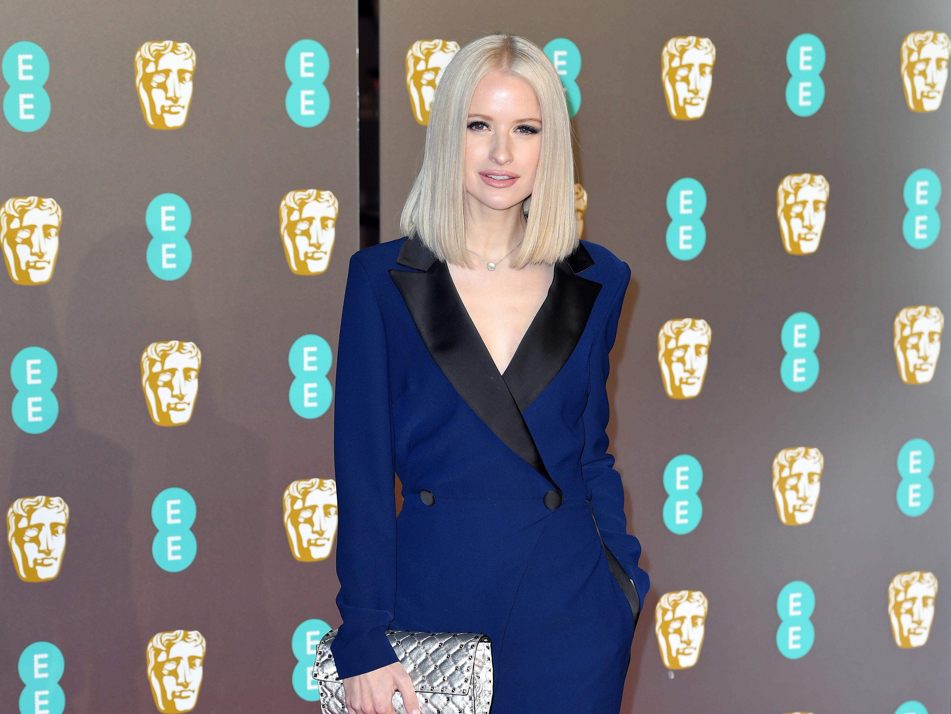Victoria Magrath a su llegada a la alfombra roja de los Premios de la Academia Británica de Cine BAFTA en el Royal Albert Hall en Londres el 10 de febrero de 2019.