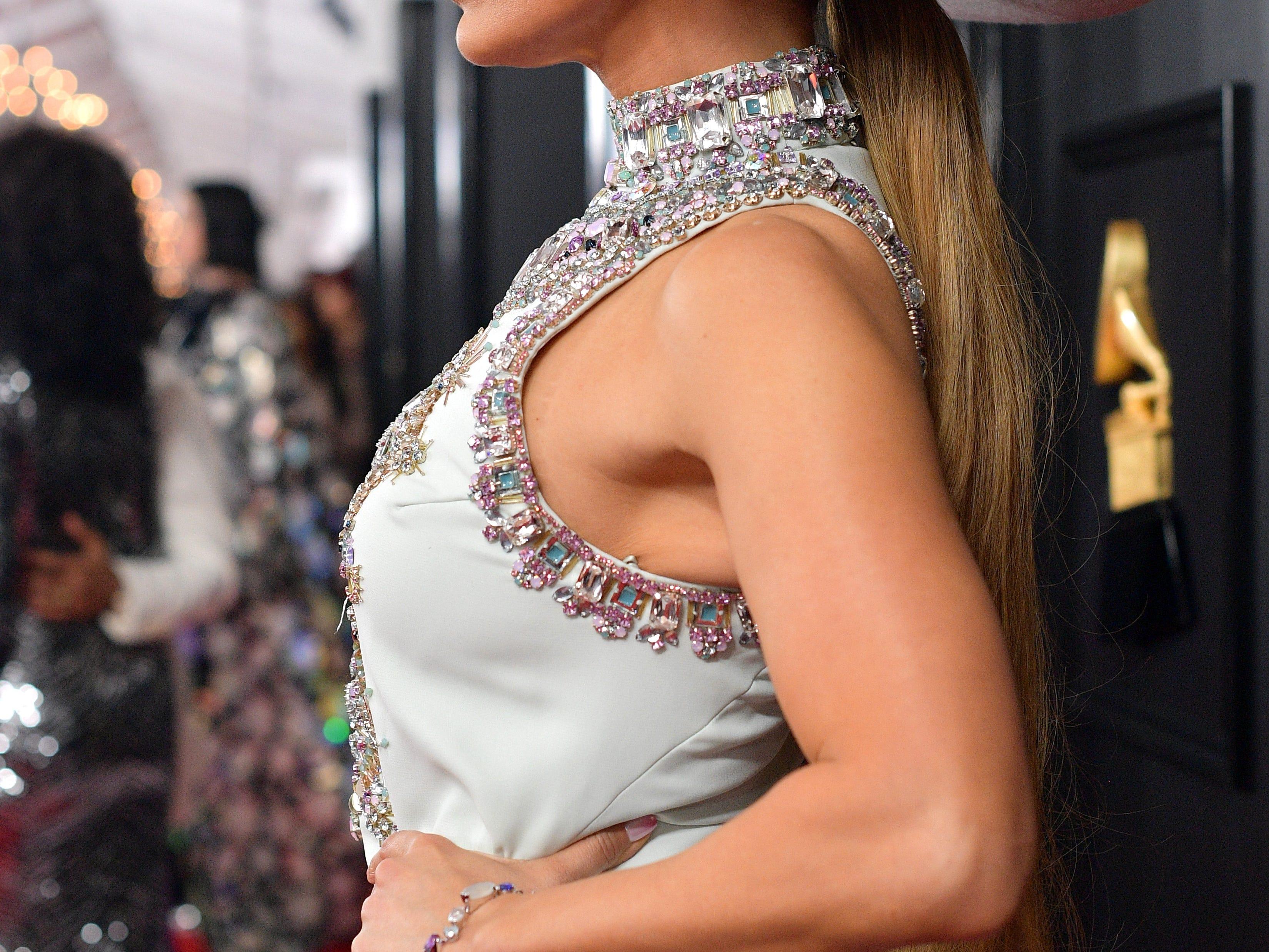 Jennifer Lopez asiste a la 61ª edición de los premios GRAMMY en el Staples Center el 10 de febrero de 2019 en Los Ángeles, California.