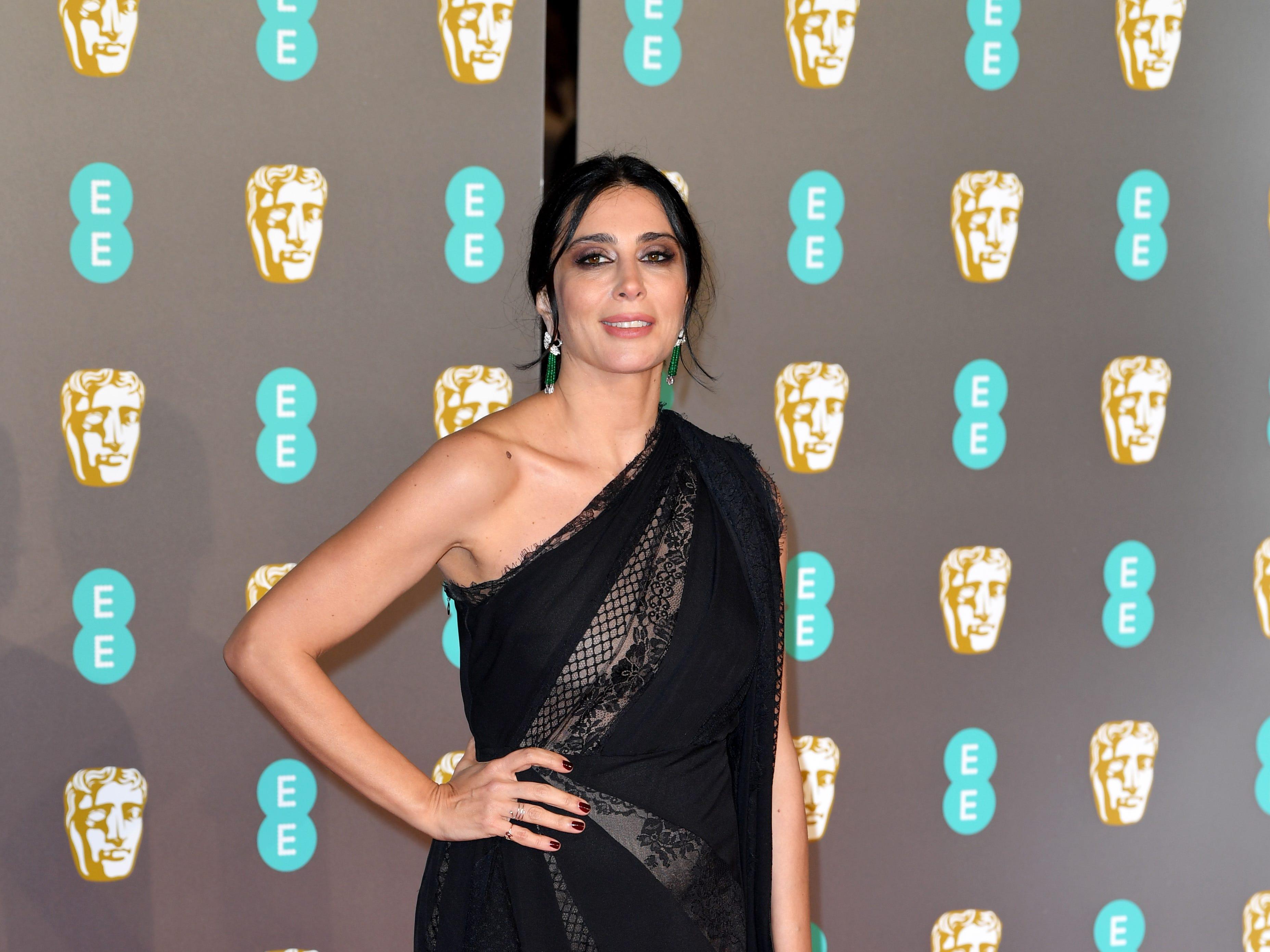 Nadine Labaki a su llegada a la alfombra roja de los Premios de la Academia Británica de Cine BAFTA en el Royal Albert Hall en Londres el 10 de febrero de 2019.