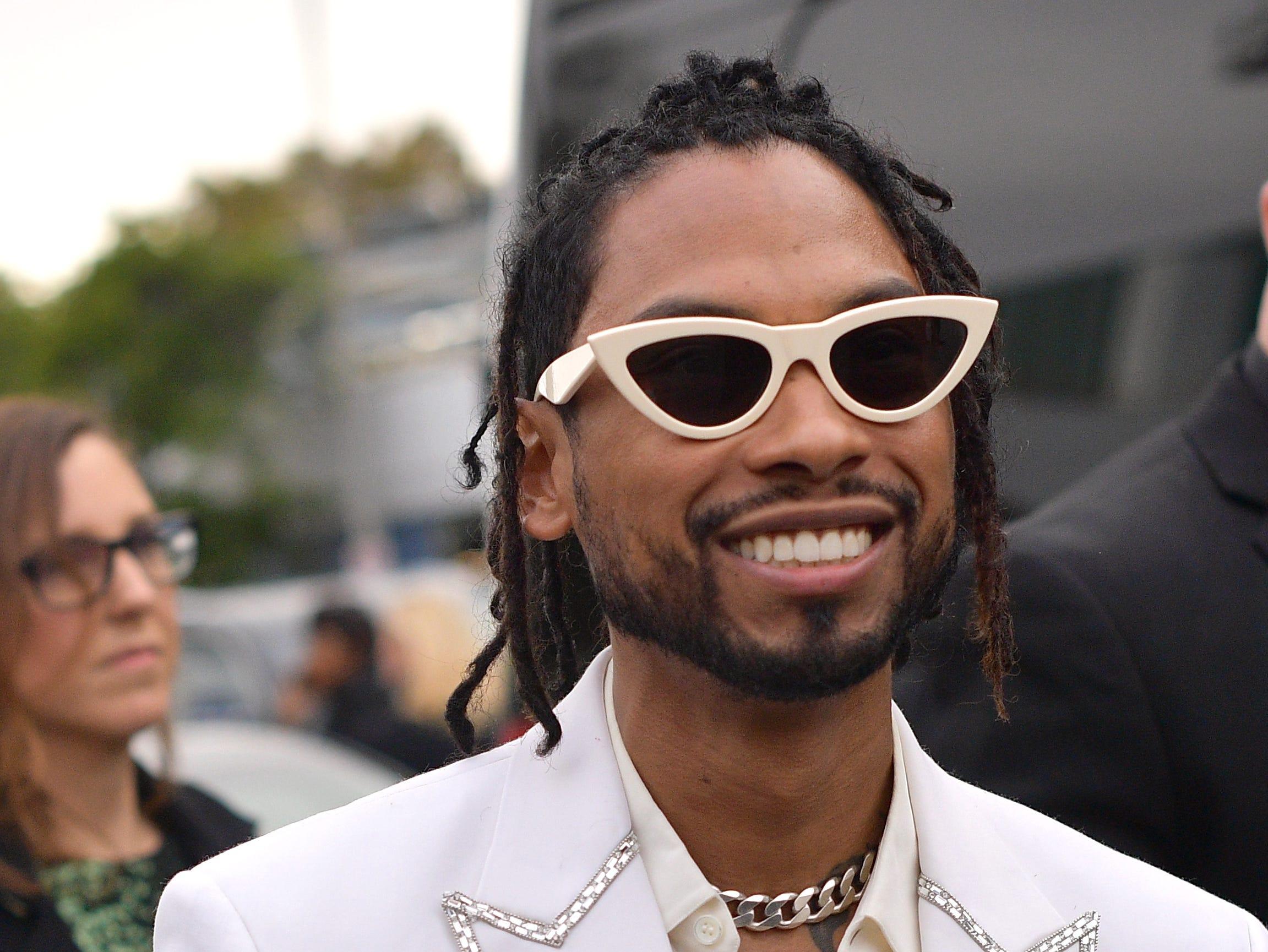 Miguel asiste a la 61ª edición de los premios GRAMMY en el Staples Center el 10 de febrero de 2019 en Los Ángeles, California.