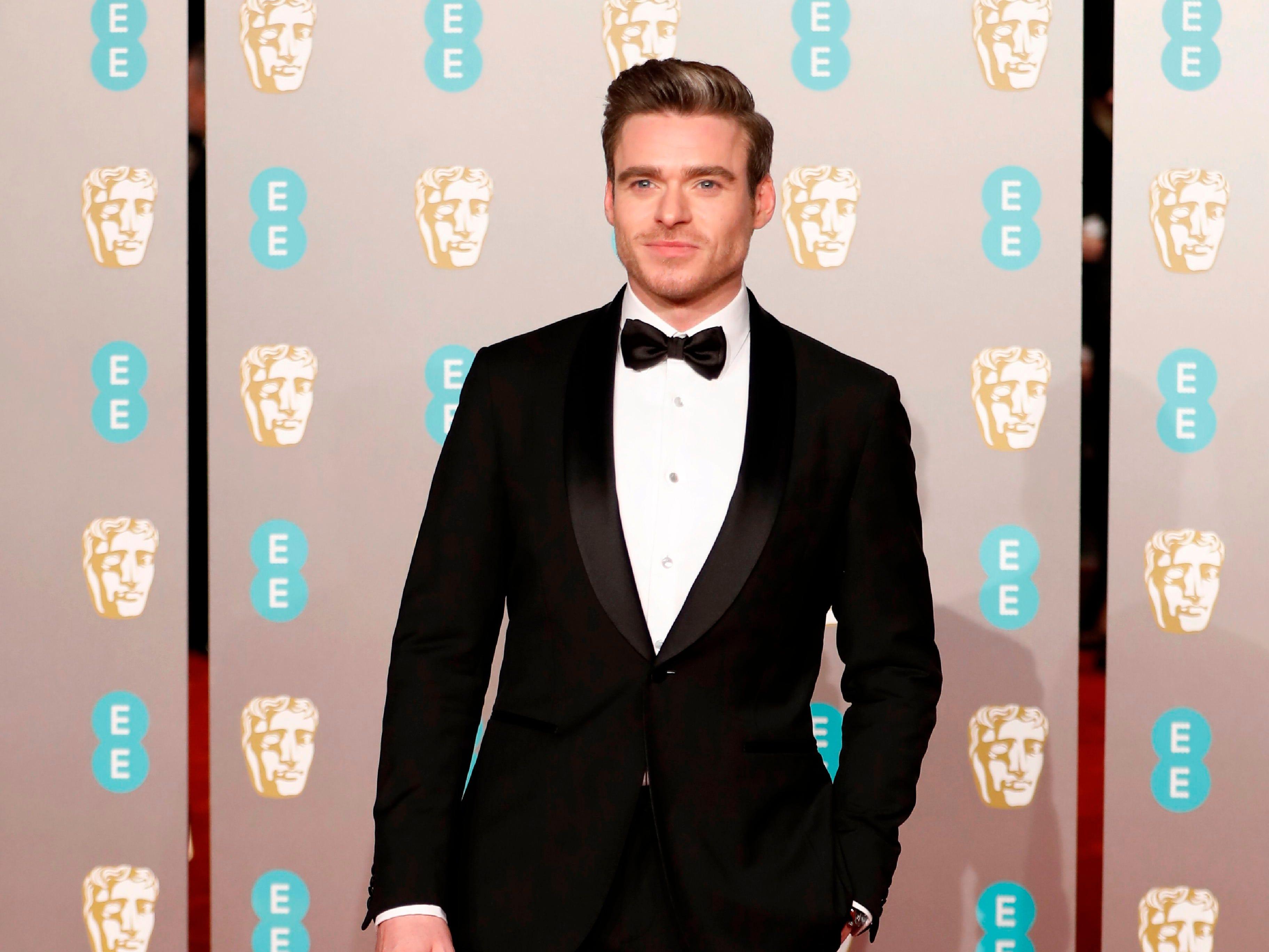 Richard Madden a su llegada a la alfombra roja de los Premios de la Academia Británica de Cine BAFTA en el Royal Albert Hall en Londres el 10 de febrero de 2019.