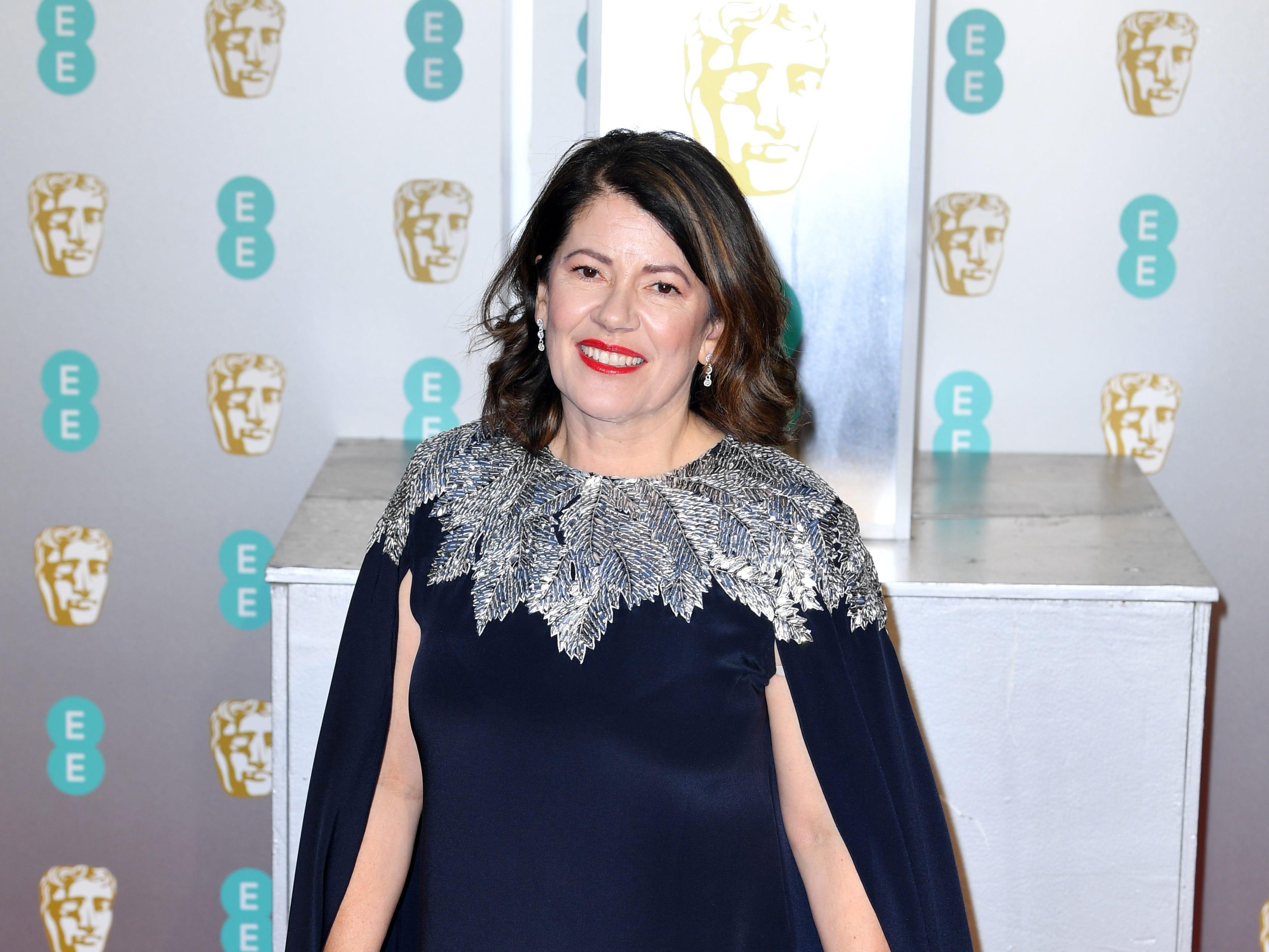 Dame Pippa Harris a su llegada a la alfombra roja de los Premios de la Academia Británica de Cine BAFTA en el Royal Albert Hall en Londres el 10 de febrero de 2019.