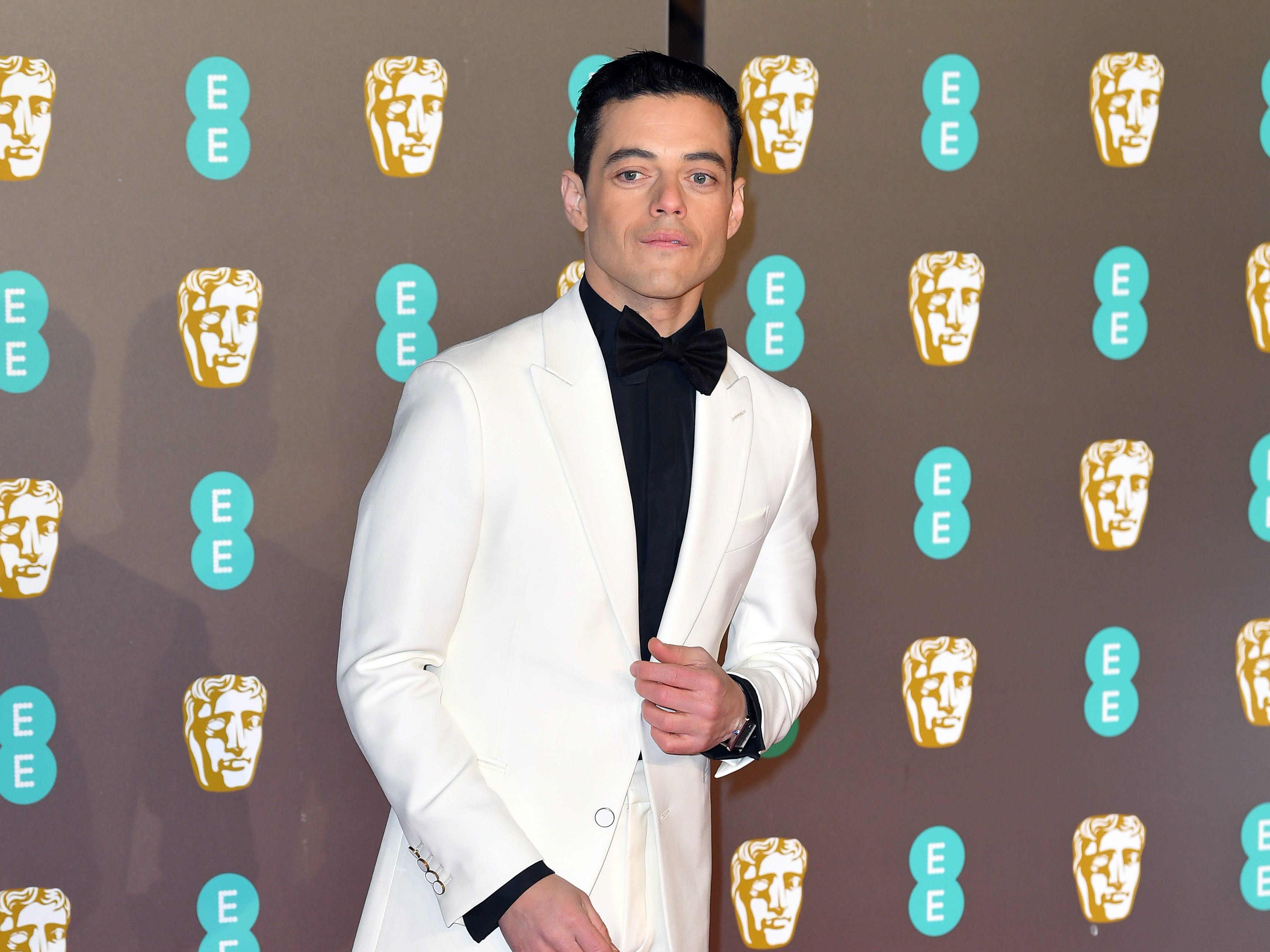 Rami Malek a su llegada a la alfombra roja de los Premios de la Academia Británica de Cine BAFTA en el Royal Albert Hall en Londres el 10 de febrero de 2019.