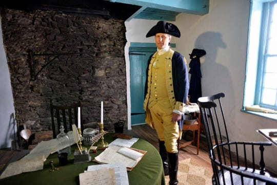 A re-enactor portrays George Washington at Washington's Headquarters State Historic Site in Newburgh.