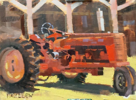 """Rusty but Ready,"" by Richard Bazelow, is included in the exhibit ""In Plein Site: Visions of the Hudson Valley,"" at Tivoli Artists Gallery."