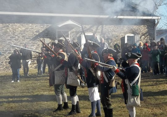 A scene from George Washington's Birthday Celebration at Washington's Headquarters State Historic Site in Newburgh.