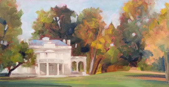 """Montgomery Place, October,"" by Lori Rothstein, is included in the exhibit ""In Plein Site: Visions of the Hudson Valley,"" at Tivoli Artists Gallery."