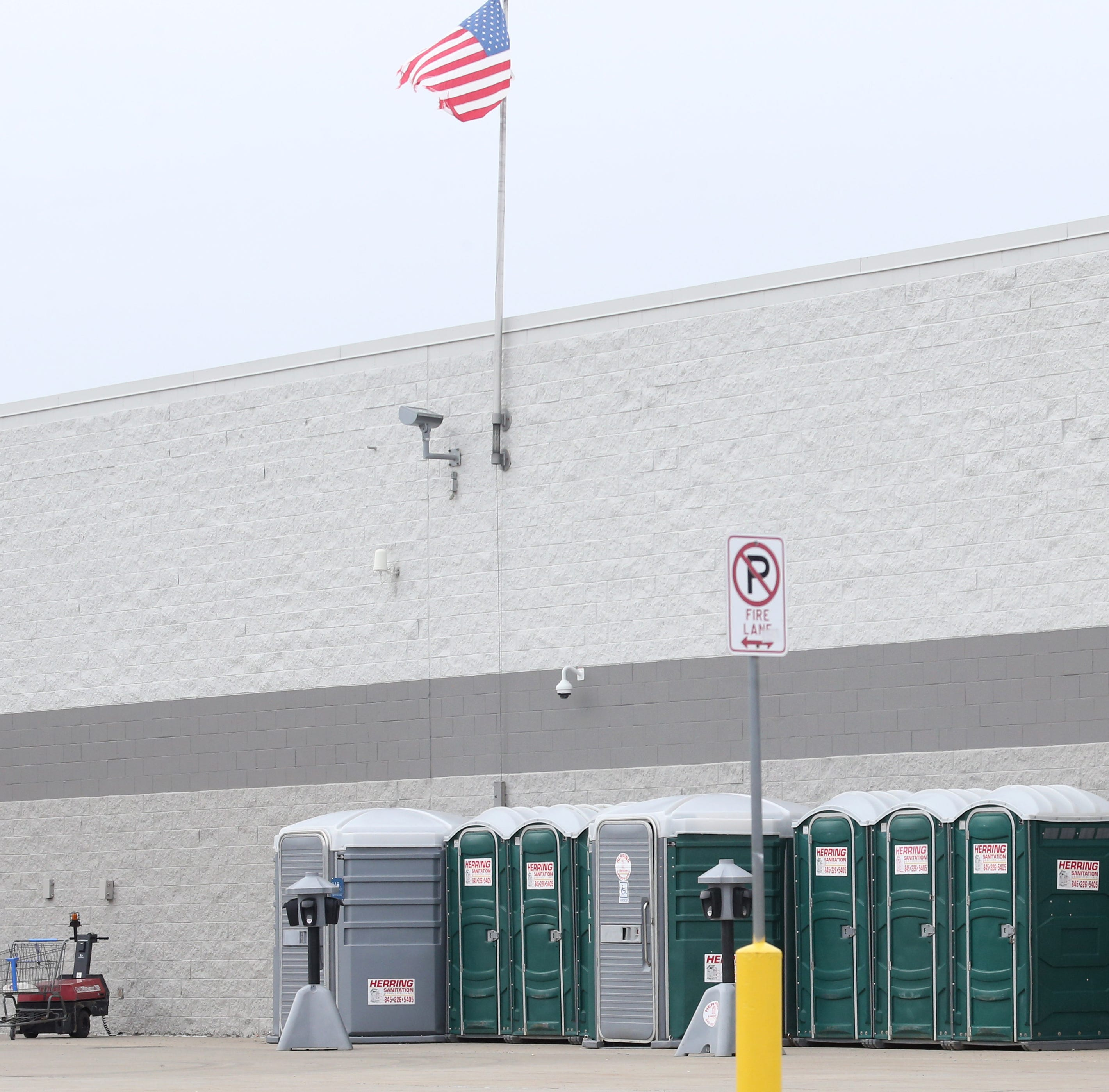 Fishkill Walmart bathrooms closed, port-a-potties set up outside store