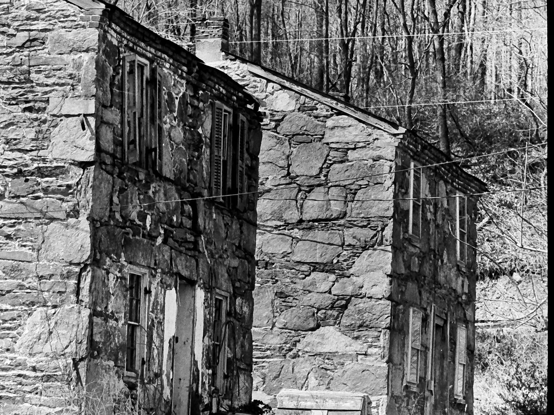 In 1985, Coulsontown's Welsh stone miners' cottages near Delta looked much the same. The buildings have undergone stabilization in the past 34 years.