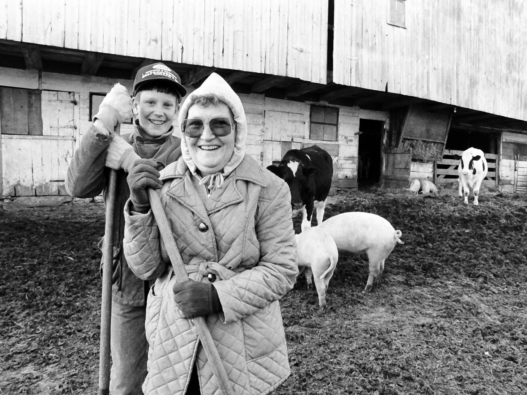 Mary Shue, right, and her son Daniel Shue in a story about the hardship of farmers across the nation in 1985. This collection of photos, many printed for the first time, is a slice of life in York County from the 1984-85 York Daily Record negative archive.