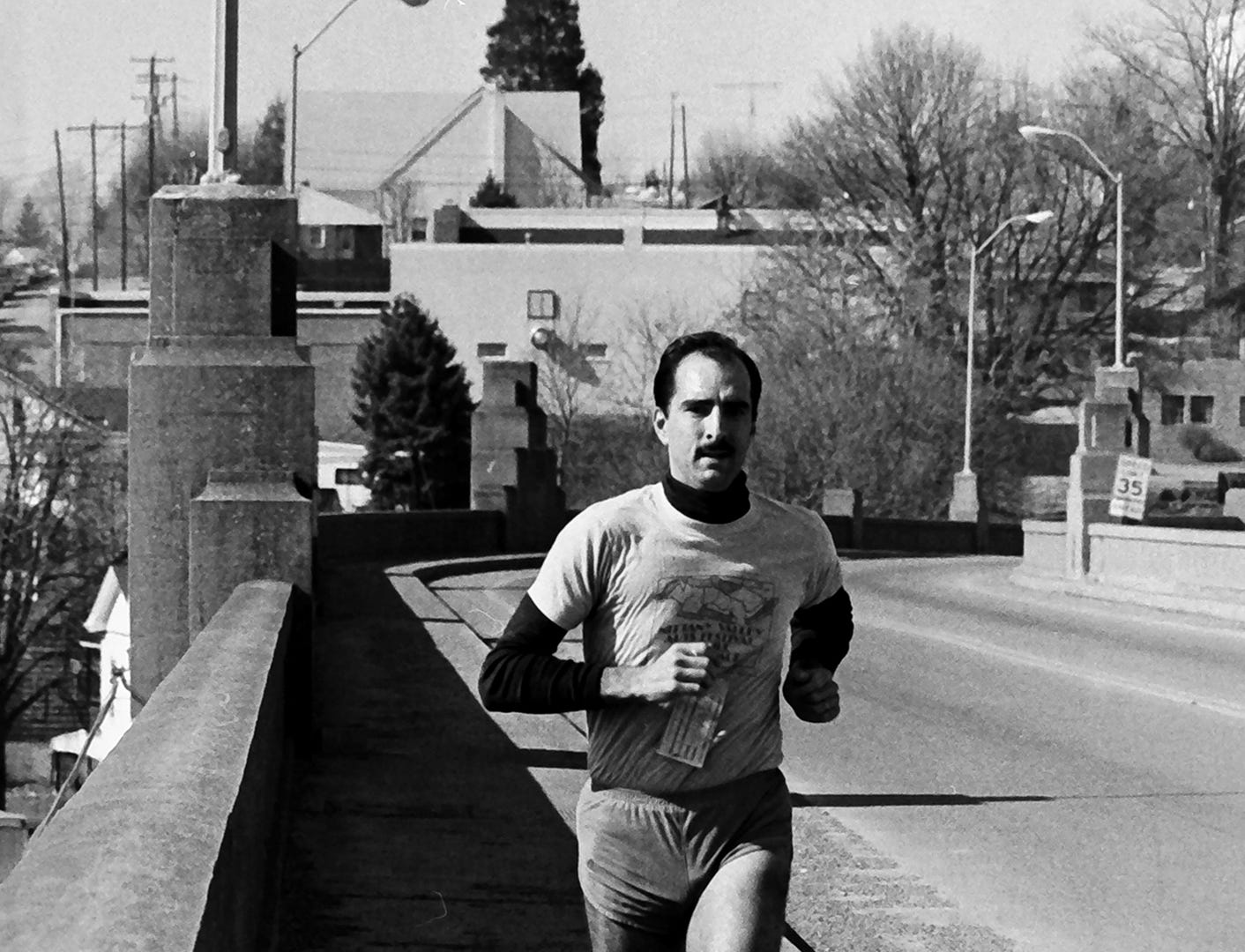 In 1985, people ran on the Veterans Memorial bridge between Columbia and Wrightsville.