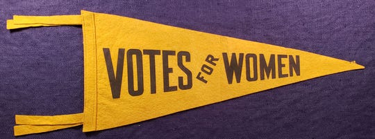 A pennant from the 1915 Pennsylvania campaign for woman suffrage.
