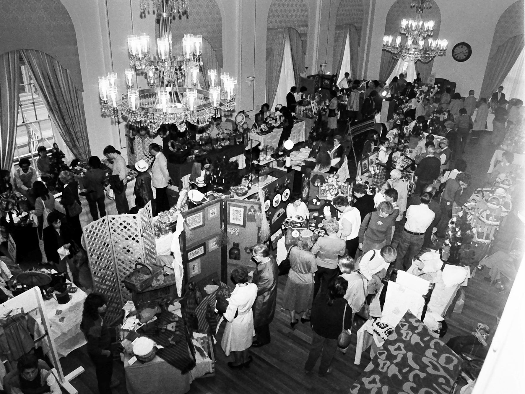 In 1985, there was a craft show in the ballroom of the Yorktowne Hotel.