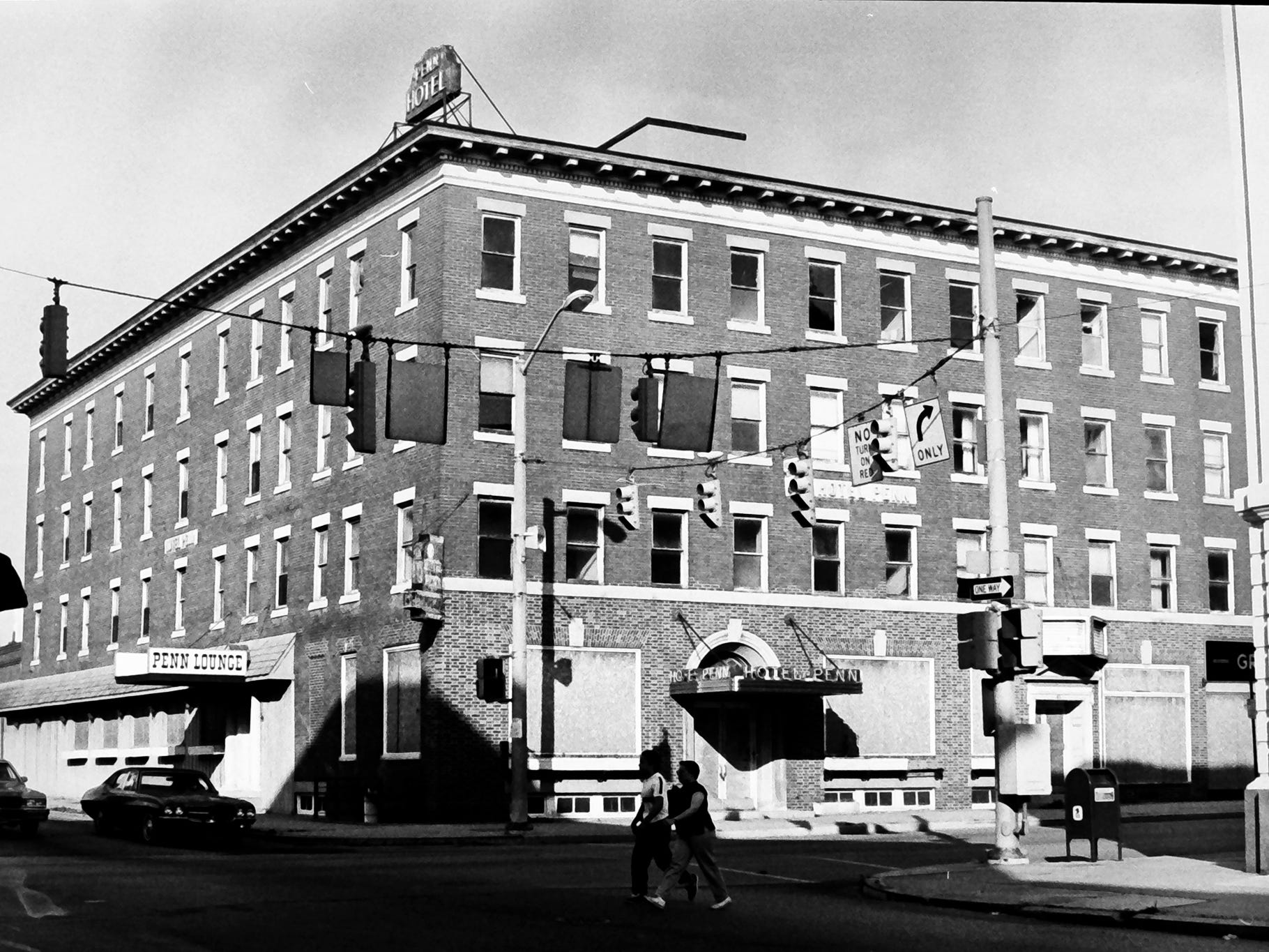 In 1985, The Hotel Penn at the intersection of Philadelphia and North George streets in York was boarded up and inching closer to the wrecking ball. It is the current site of the York County Judicial Center. The Appell Center is at the far right.