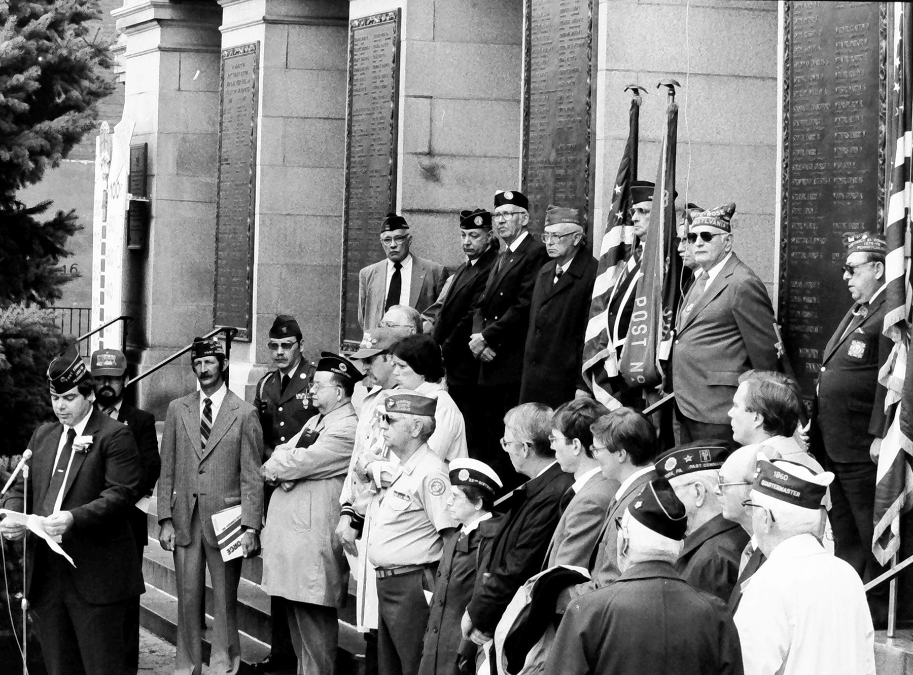 In 1985, a veterans group gathered on the steps of the York County Courthouse, which is now the York County Administrative Center.
