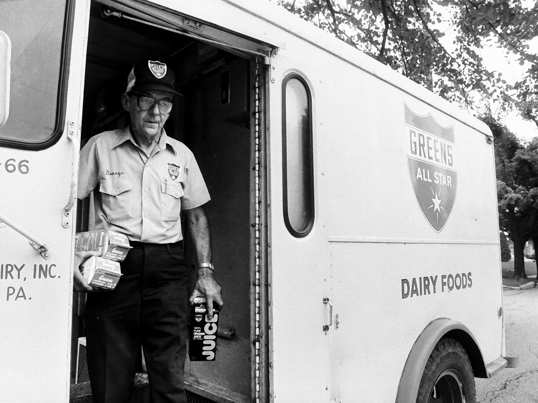 In 1985, a milkman delivered milk.