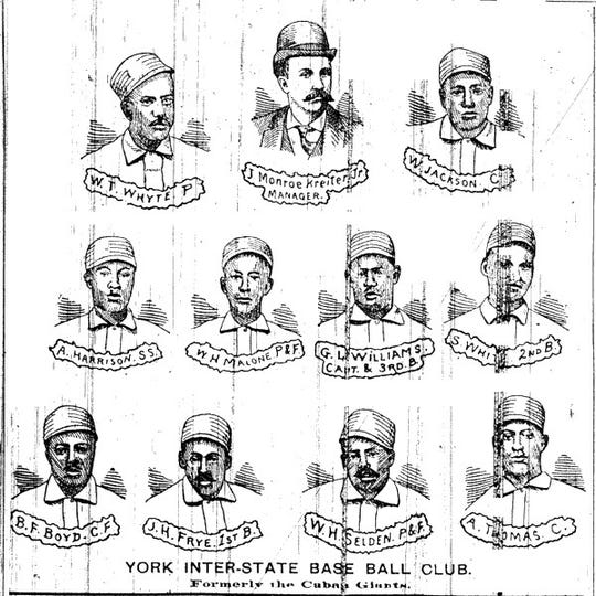 A poster of the 1890 York Monarchs.