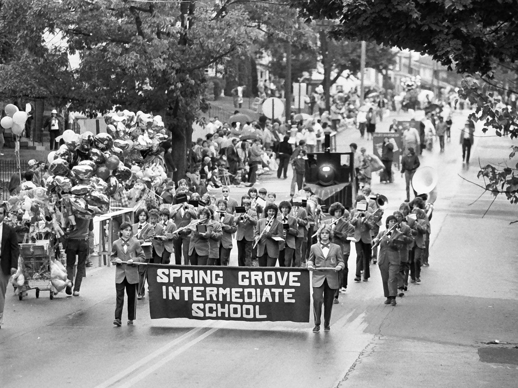 In 1985, Spring Grove Intermediate School marched in the Spring Grove Halloween Parade.