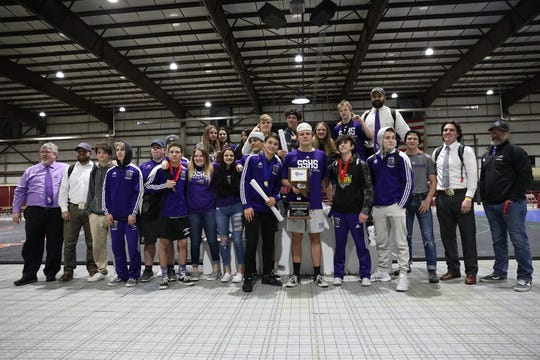 Spanish Springs held off Green Valley on Saturday afternoon in Winnemucca to win its second consecutive 4A state wrestling championship.