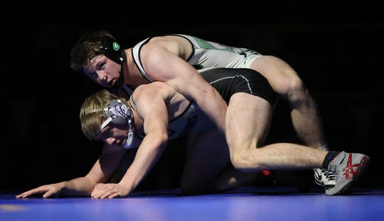 Fallon senior Sean McCormick wins his fourth 3A state title, taking down Spring Creek's Clay Campbell by major decision (12-2) in the 170-pound class on Saturday at the Winnemucca Events Center.