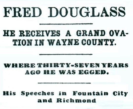 The Sept. 9, 1880, Richmond Telegram headlined the disgrace with which the famous African American orator was faced when he first came to Richmond.