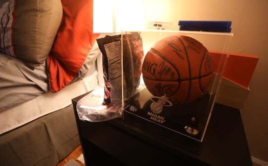 Alejandro Ortiz had a basketball signed by the Miami Heat as part of a Make-A-Wish-Foundation sent the whole team to visit the team.  This basketball was stolen in 2017 but has been recovered.  His nephew, Christian Mason, that he was close with now has the ball.