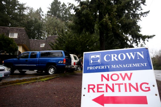An apartment complex with a for rent sign on Liberty Rd. S in Salem on Monday, Feb. 11, 2019.