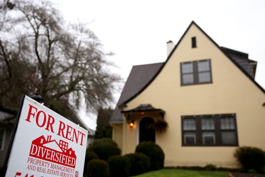 A home with a for rent sign on High St. SE in Salem on Monday, Feb. 11, 2019.