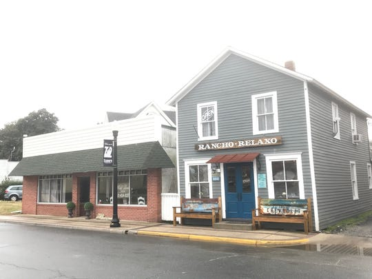 Rancho Relaxo restaurant on Main Street in Exmore, Virginia is in an 1890s building that previously held a shoe store and a bakery, among other businesses.