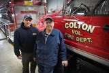 LeRoy Koopman, fire chief for Colton Fire Rescue, and his son Mike Koopman, fire chief for Baltic Fire Rescue, Tuesday, Feb. 5, in Colton.