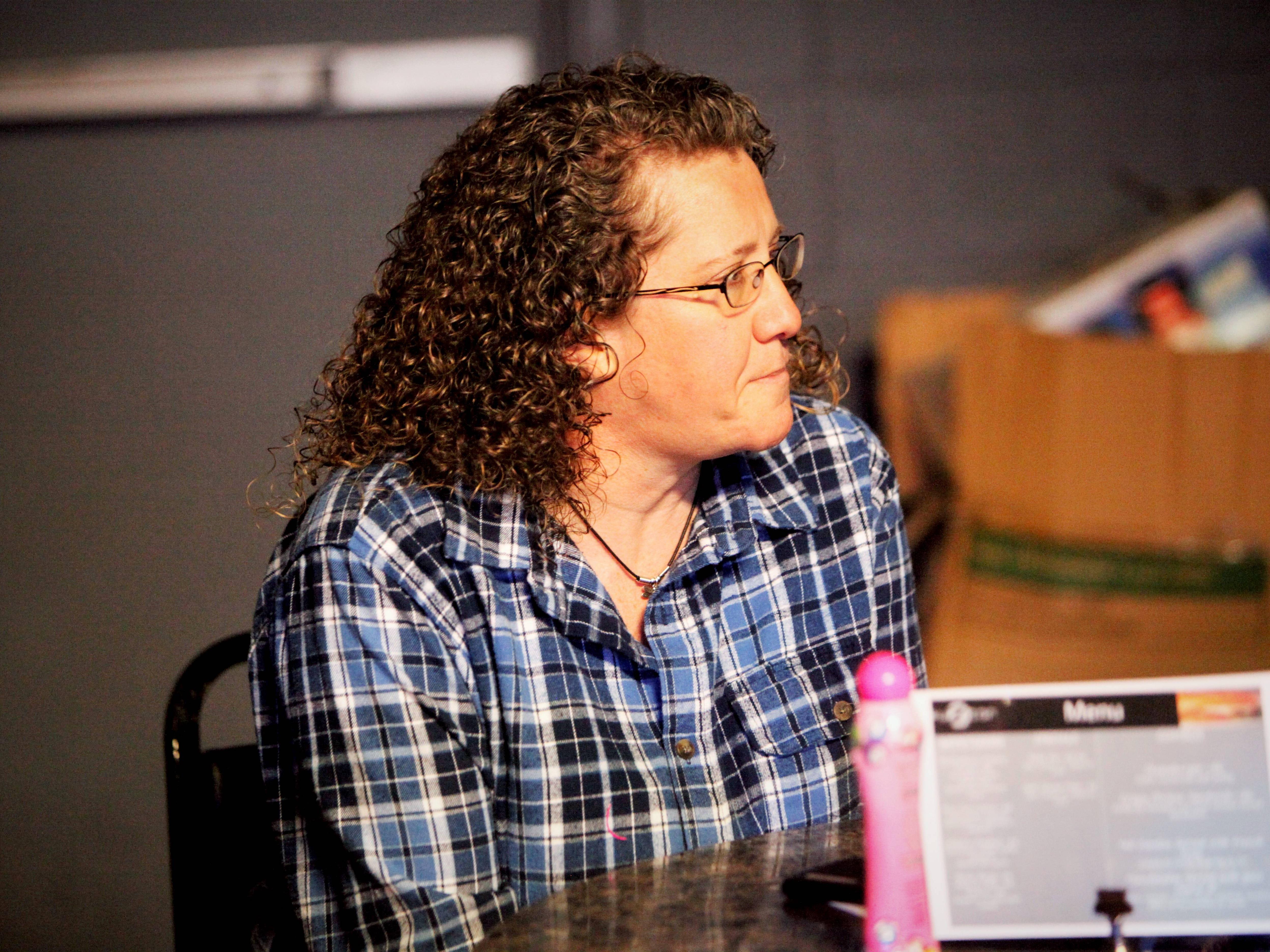 Kelly Harris, director of Safe to Sleep, attends Drag Queen Charity Bingo Feb. 10.