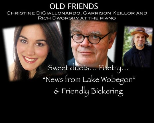 "Garrison Keillor will be performing his newest show ""Old Friends"" at 7:30 p.m. Feb. 21 at Pioneer Place on Fifth."