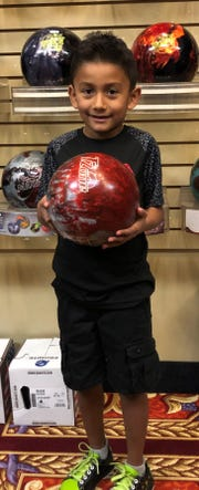 Six-year-old Gabriel Lopez broke the 100 mark for the first time last week, rolling a 138 game at Virgin River Bowling Center.